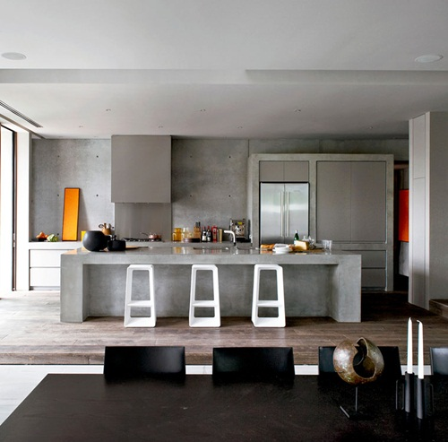 Art deco streamlined moderne kitchen interiors, Bauhaus inspired