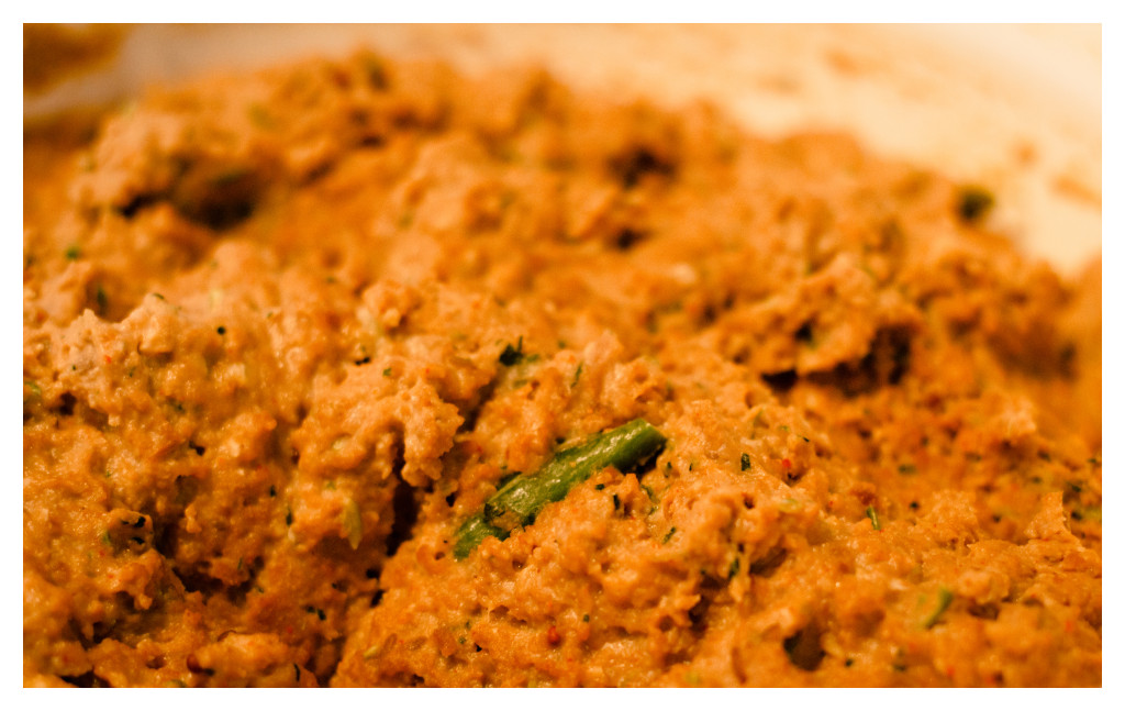 Meat, shammi kebab mix, lentils, spices