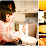My darlings making their grandmother's pancake recipes