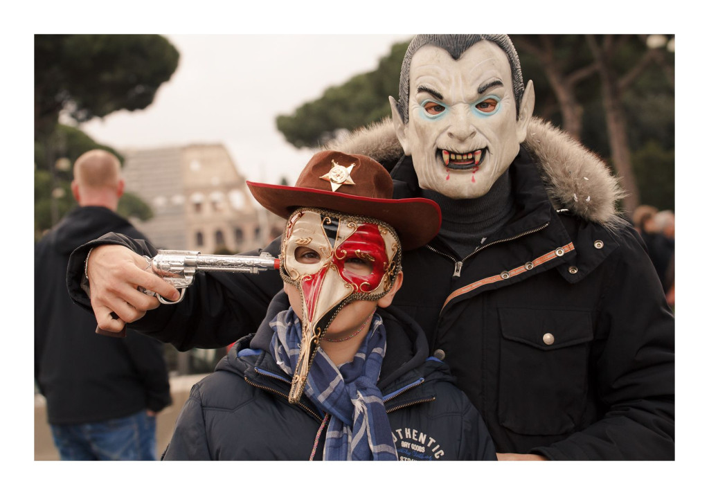New Sheriff in town - Venetian Masks  and more at the Carnival at Piazza Venezia