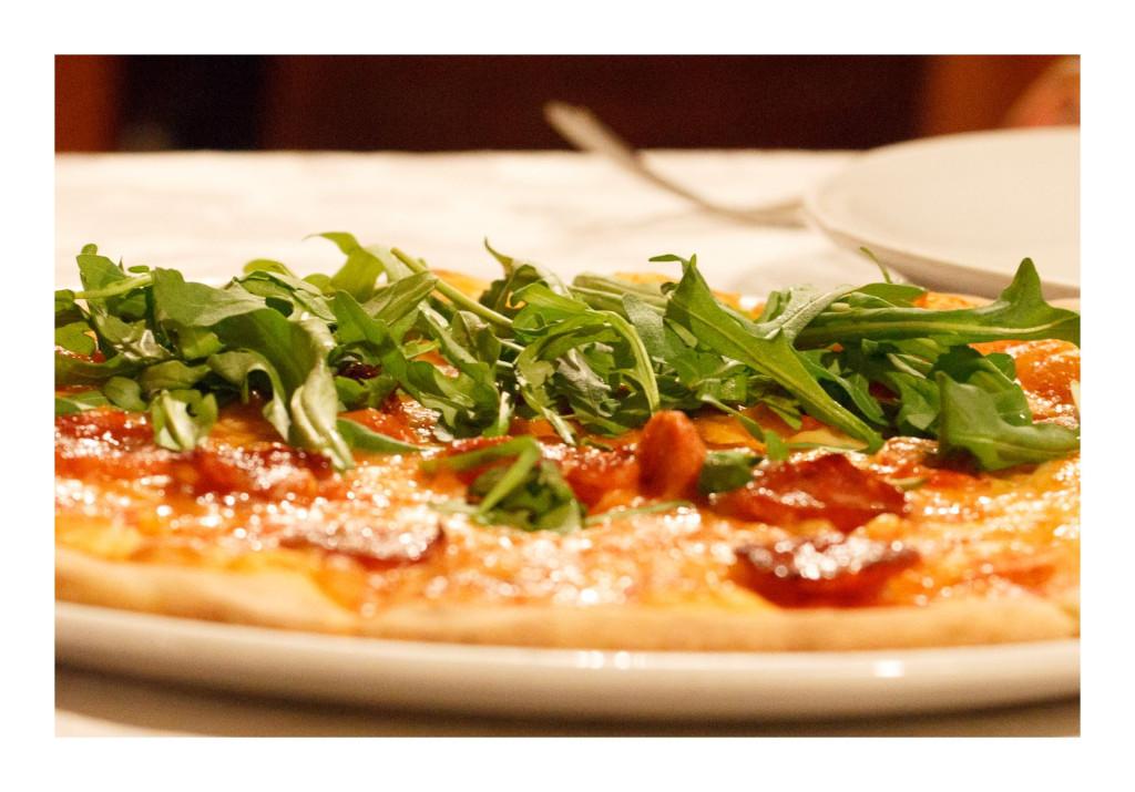 Pizza Rustica Calabresa, italian food