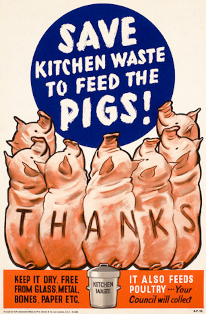 Recycle waste, it doesn't have to feed the pigs! ;P
