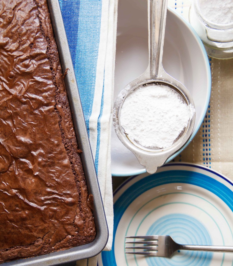 chocolate brownies, baking, simple recipe, bake sale