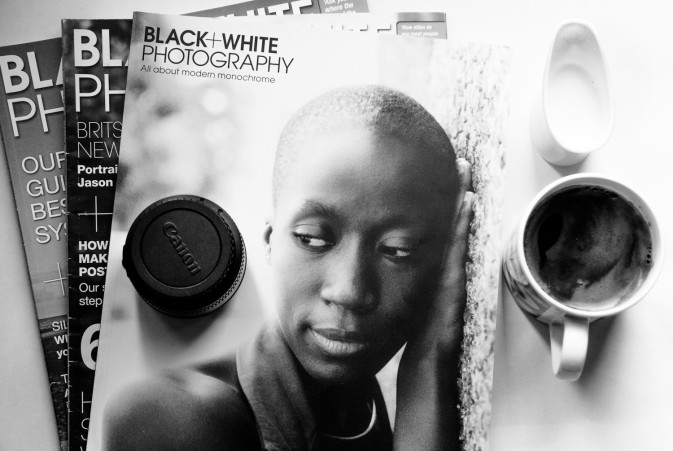 black and white photography magazine home style