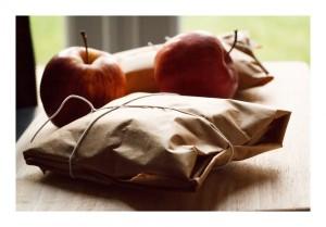 Fresh Apples In Paper Bag