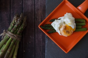 Continental Breakfast Egg and Asparagus
