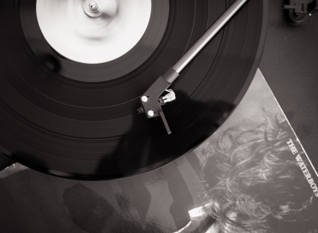 music, Chrome, smoke, vinyl, black and white, monochrome, the waterboys