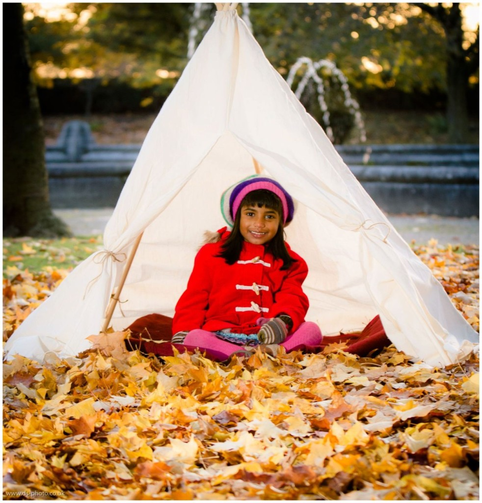Autumn leaves, teepee, mini boden clothing - This pic was taken by Daniel Simm