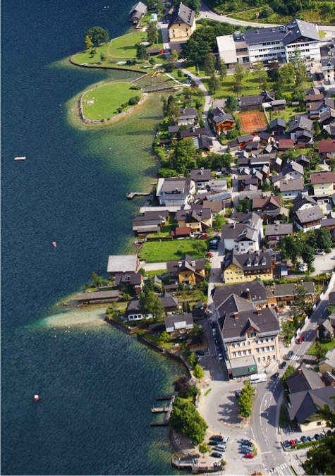 The village of Hallstatt, phtographed from an elevation of 1,700 feet!