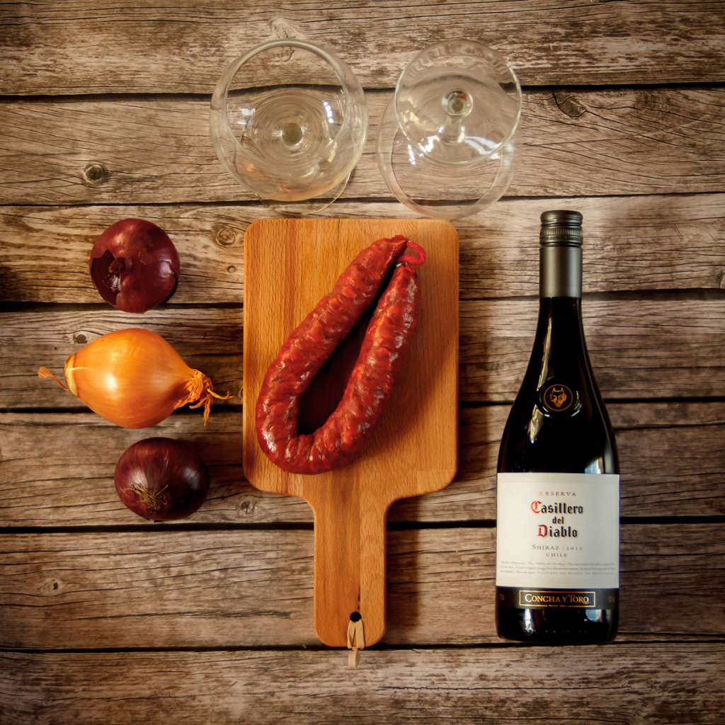 Wood, simple living, rustic, new peasant, chorizo, wine